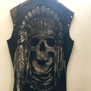 Handmade Other - Multi-Media Men's Leather Vest